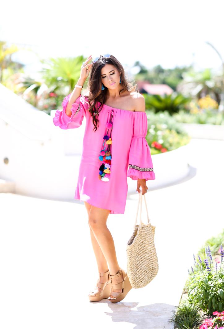 93a57f3f6b56 Bermuda  Hot Pink   Pom-Poms