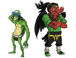 Kappa (a la izquierda) y Tengu (a la derecha) unas variantes de Yokai