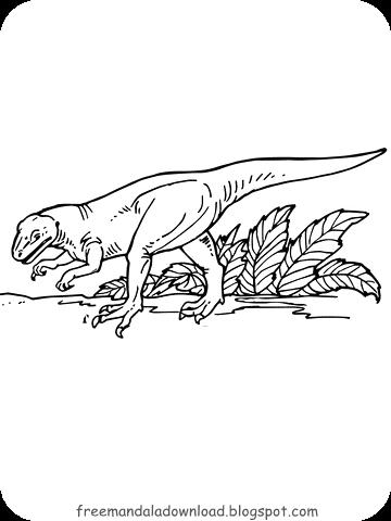 dinosaurier malvorlagen   free mandala download