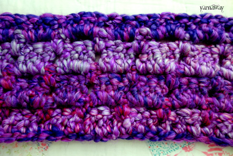the fuzzy purple scarf | yarnaway: a crochet scrapbook