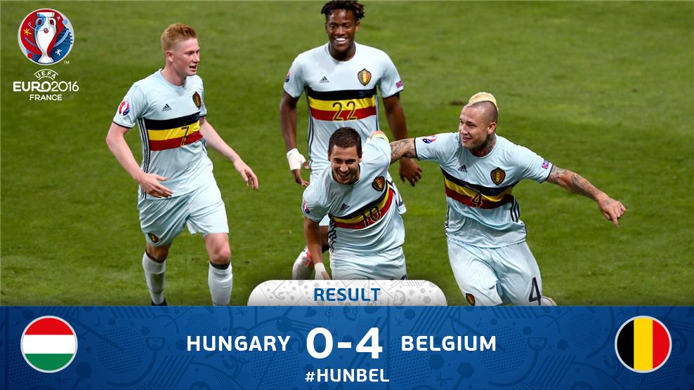 Perkasa, Belgia Lumat Hungaria 4-0