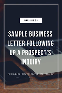 how to write letter following up a prospect's inquiry