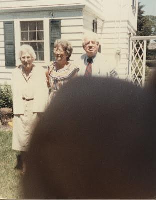 Mrs. Hayes, Carolyn, Grandad at Wind Point