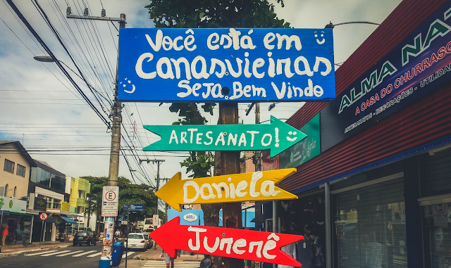 Placa de bem-vindo a Canasvieiras