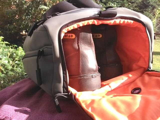 The back compartment of the KP Duffle travel bag is a ventilated section  for keeping things like snicker trainers f5a5e9cfb3f4
