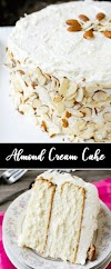Almond Cream Cake for Dessert Recipe