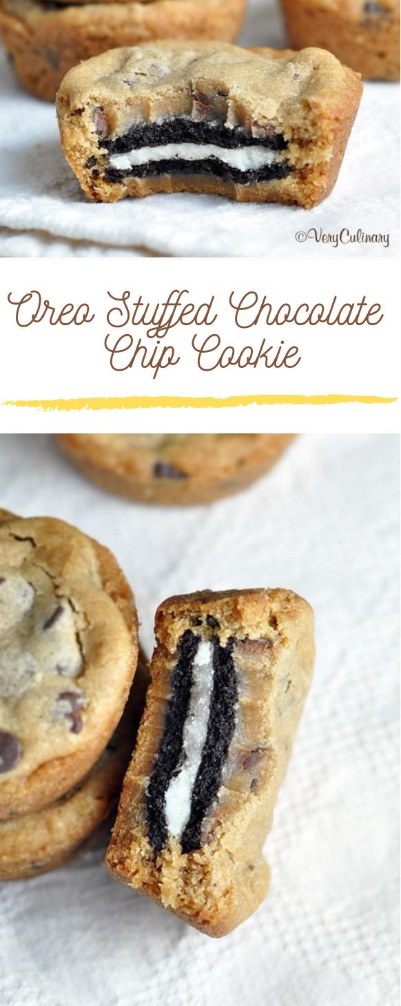 OREO STUFFED CHOCOLATE CHIP COOKIES #oreo #dessert