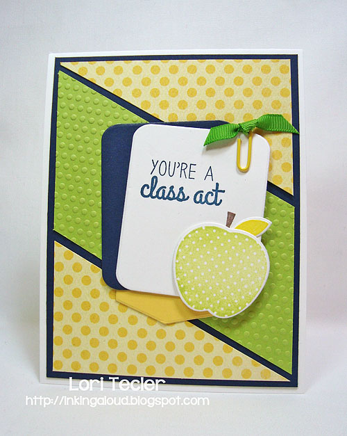 You're a Class Act-designed by Lori Tecler-Inking Aloud-stamps and dies from Reverse Confetti