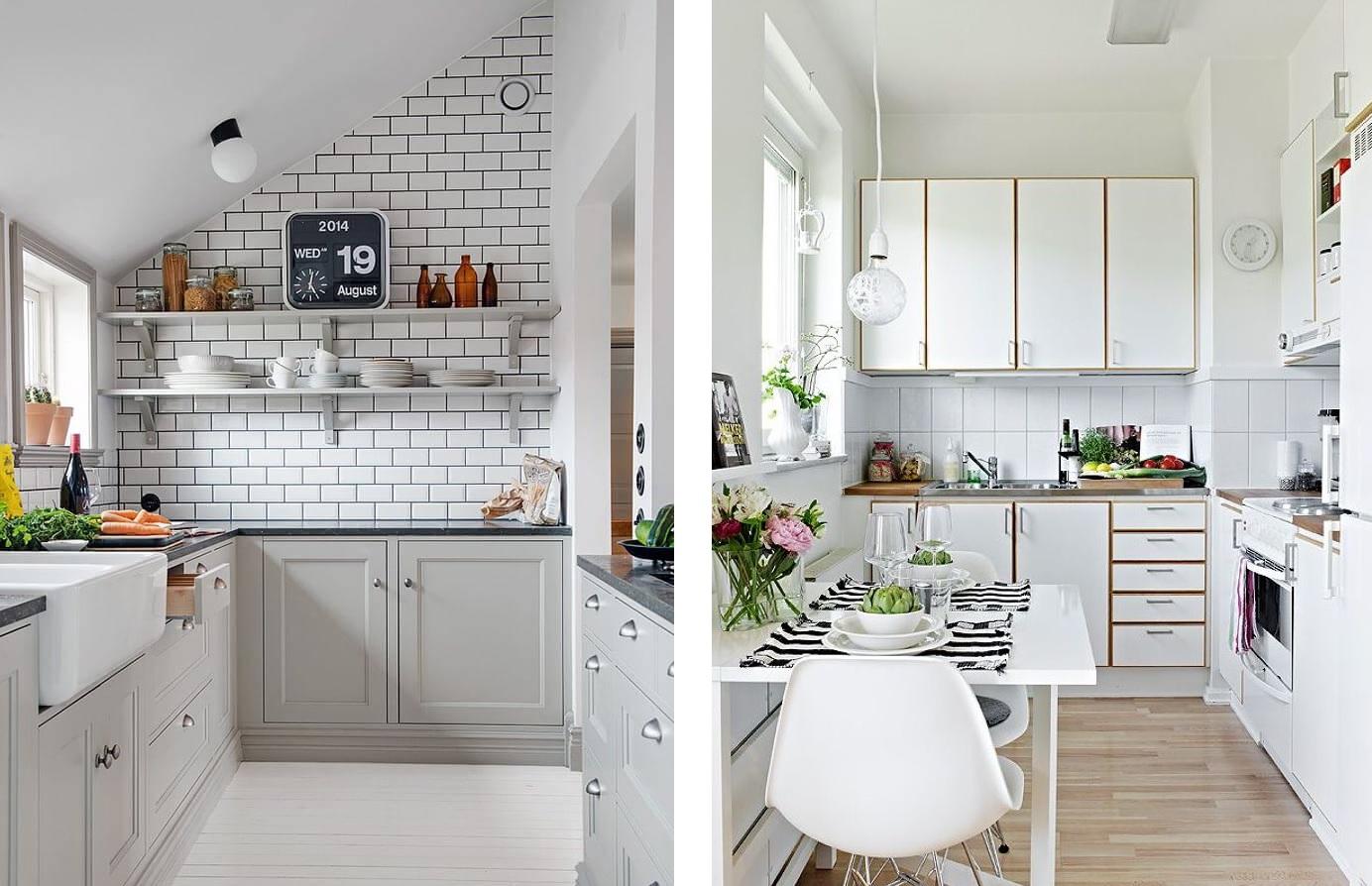 24 Fotos de cozinhas estreitas cheias de charme ~ Decoração e Ideias  #6A422F 1384 894