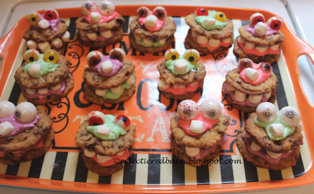 Eclectic Red Barn: Halloween Monster Cookies