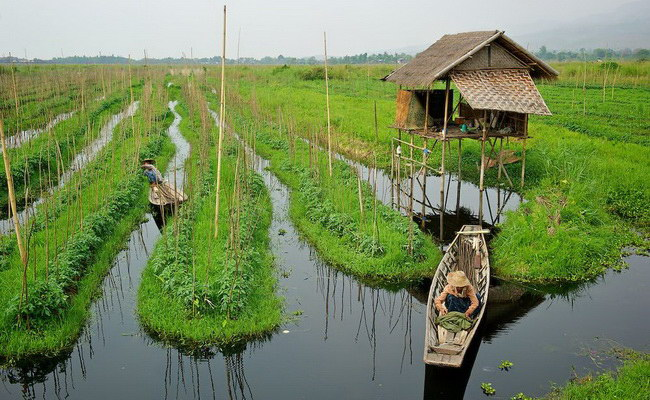 Xvlor.com Inle Lake, watches exotic cultural floating life in Myanmar's mountains
