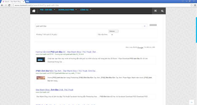 Hướng dẫn tạo seach cho blog với kết quả tìm của google