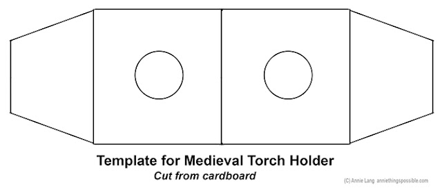 Use this template to create a fun medieval prop torch for your themed party