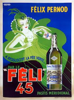 """Poster for Pernod's """"Lou Fèli 45"""" pastis, c. 1935"""