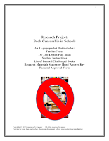 Writing Activity - Banned Books Research Project cover