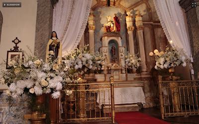 Altar da Igreja de São Sebastião na novela Gabriela, da Rede Globo