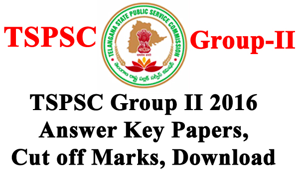 TSPSC Group 2 Official Answer key Papers 2016 Download