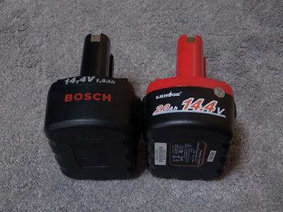 LENOGE ボッシュ 14.4V 互換バッテリー 2Ah BOSCH 2607335711 工具用 ニカド電池 レッド