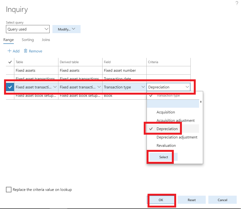 how to reverse fixed asset depreciation in microsoft dynamics 365