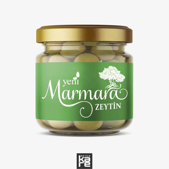 Marmara Zeytincilik Logo Zeytin etiket Tasarımı