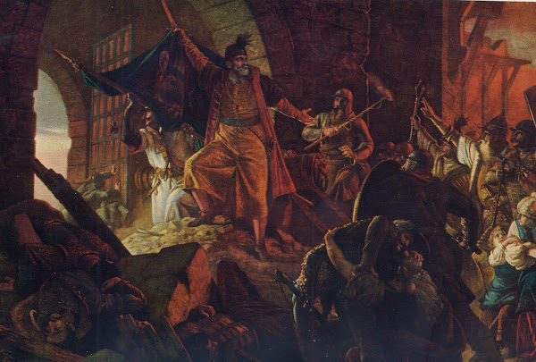 Zrinyi's Charge from the Fortress of Szigetvár by Bertalan Székely, Macabre Paintings, Horror Paintings, Freak Art, Freak Paintings, Horror Picture, Terror Pictures