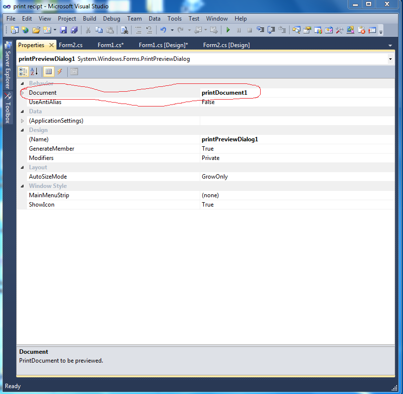 How can Take Print Receipt and Save the Data in Database in