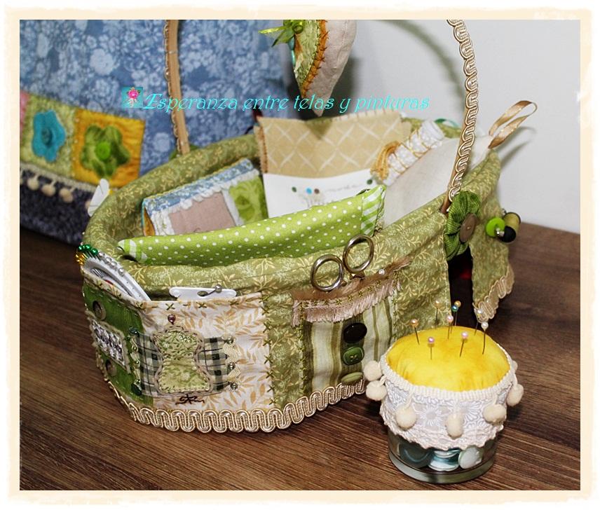 Esperanza entre telas y pinturas cesta de costura - Cesta de costura ...