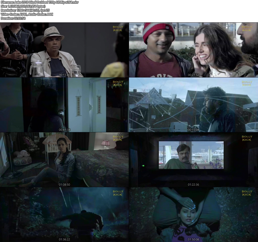 Aake 2018 Hindi Dubbed 720p HDRip   40p 300MB   100MB HEVC Screenshot