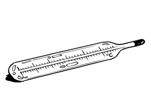 Free coloring pages of temperature thermometer