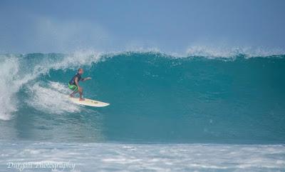 Julian Shiroma in an Ergo at Kamoa Point, Holualoa Bay