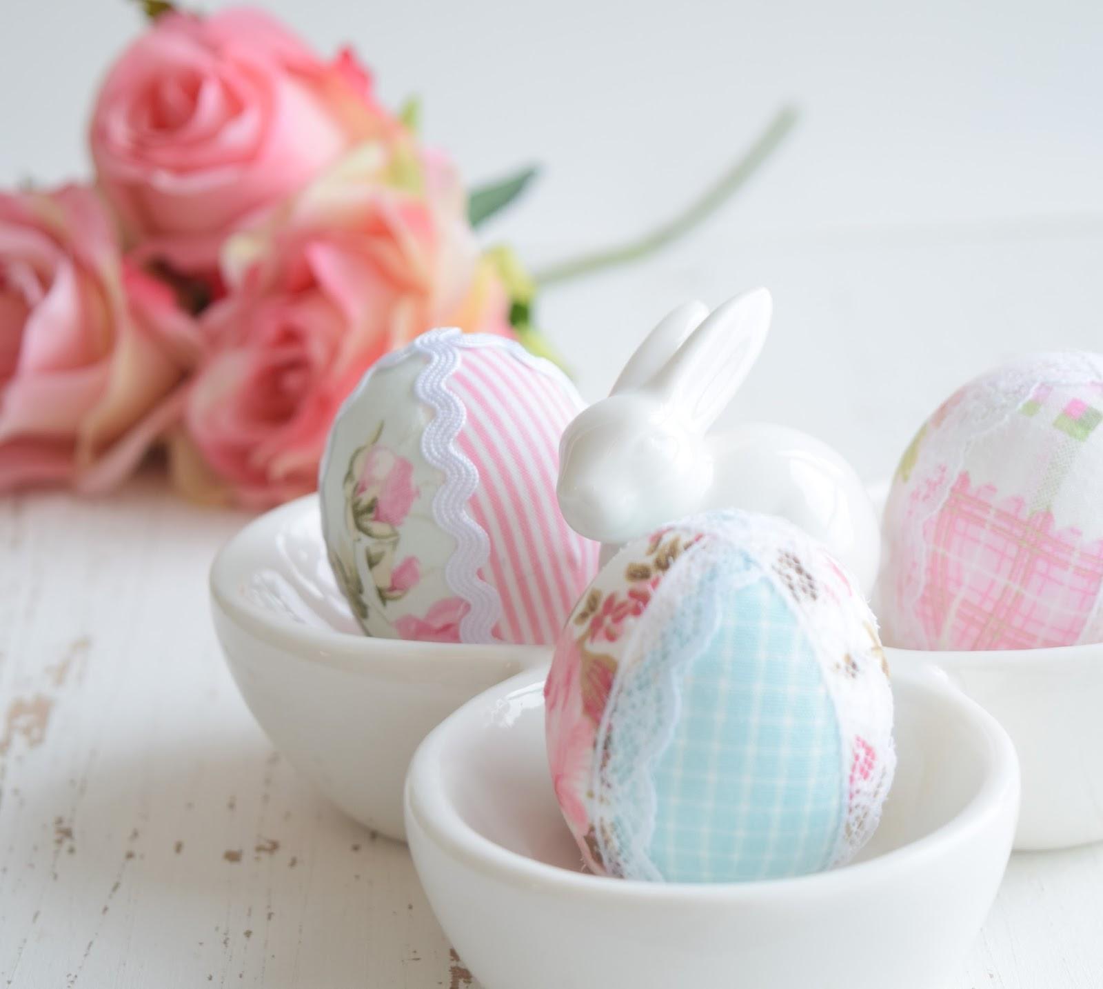 Páscoa Como decorar casca de ovo com tecido! -> Como Decorar Ovo De Pascoa De Chocolate