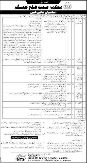 Jobs in District Health Department Jhang