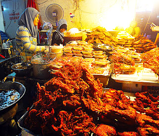 Fried seafood to take away in Hat Yai City
