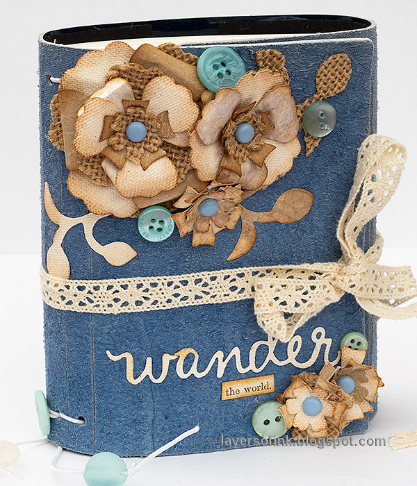 Layers of ink - Faux Leather Wrapped Journal Tutorial by Anna-Karin Evaldsson. With Sizzix dies by Eileen Hull.