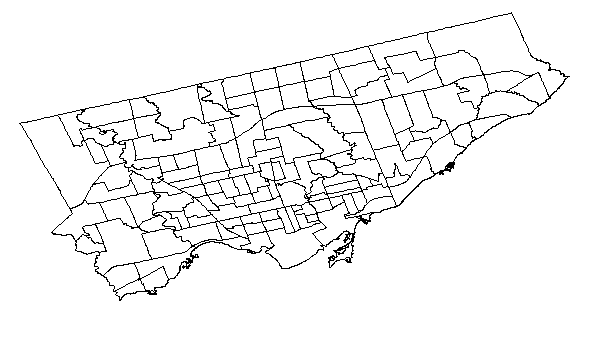 Plotting Choropleths from Shapefiles in R with ggmap - Toronto Neighbourhoods by Population