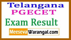 TS PGECET Result 2018 Telangana Post Graduate Engineering Common Entrance Test Result