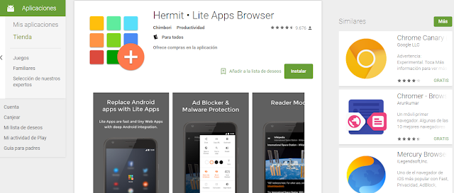 APK Hermit Lite Apps Browser 12.0.7 Premium