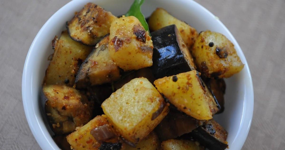 Cooking with Meena: Aloo Baingan dry curry (potato and ...