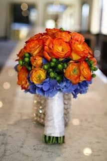A Modern Orange and Blue Wedding