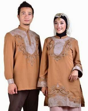 Model baju muslim sarimbit modern