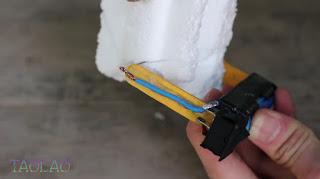 Pemotong Styrofoam / Gabus Sendiri dari senar gitar bekas