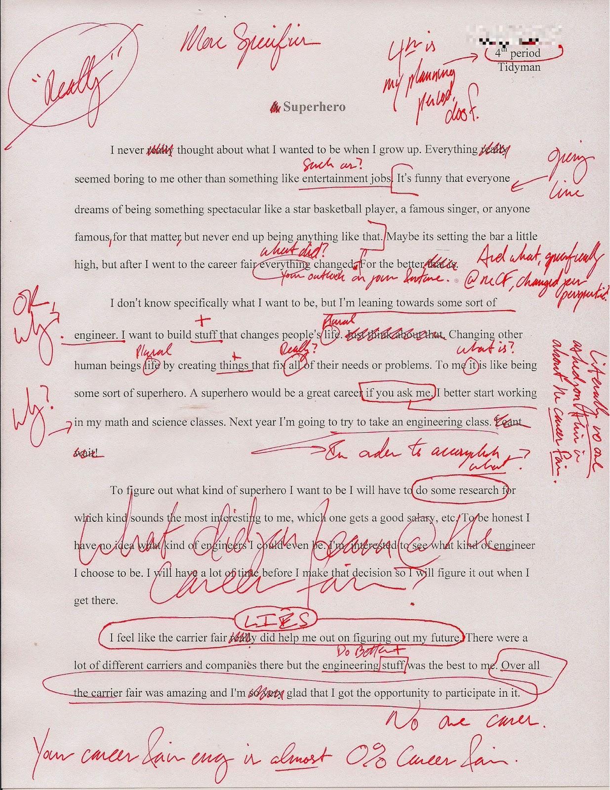 Peer Editing College Essay