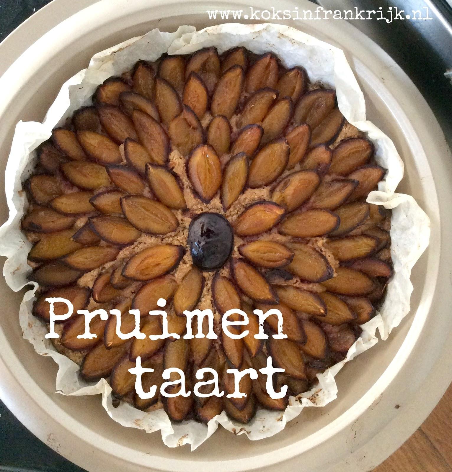 makkelijke taart met pruimen