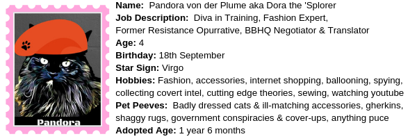 About Pandora at BBHQ ©BionicBasil®