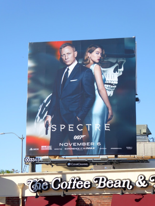 Spectre 007 movie billboard