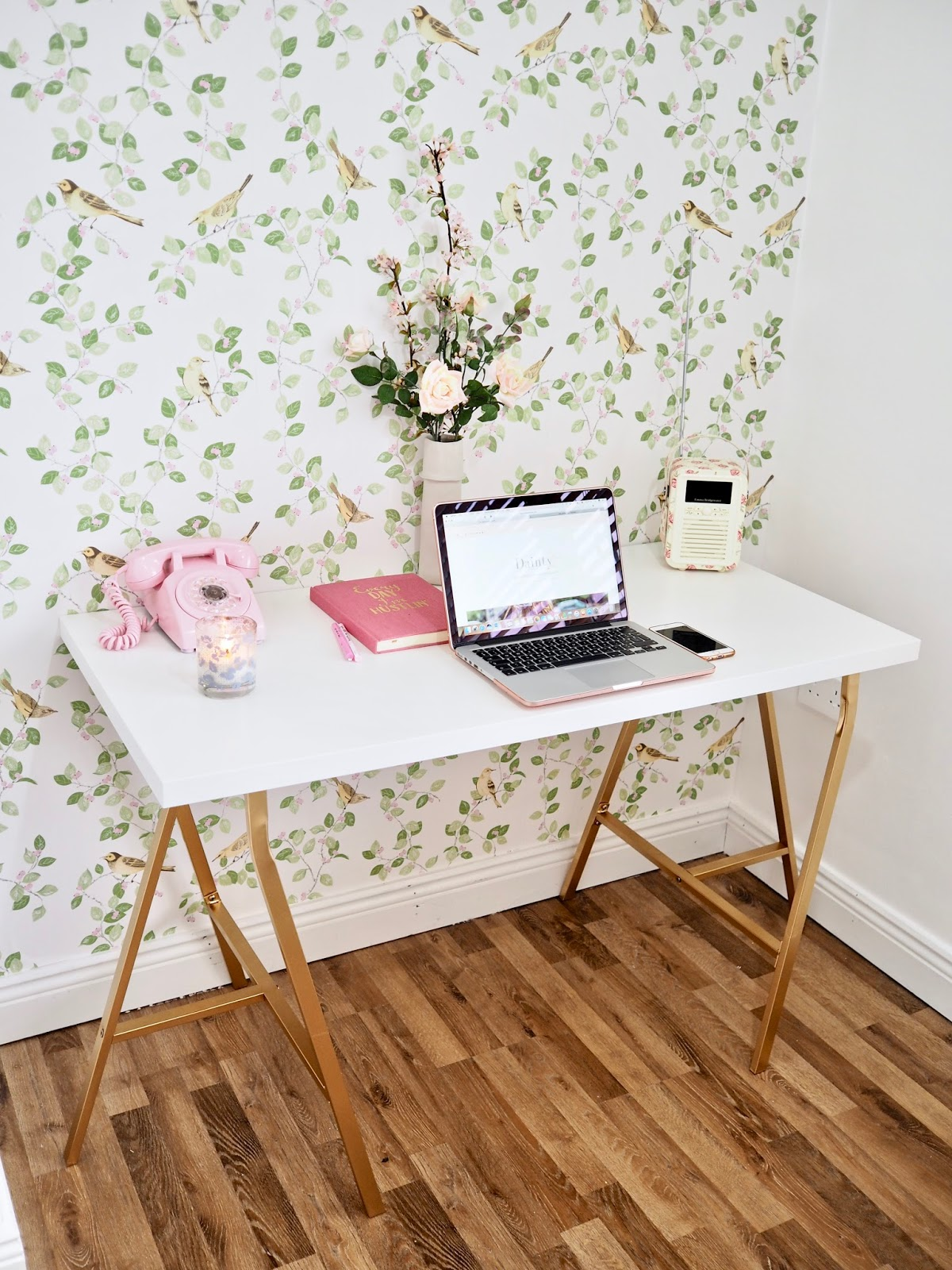 Video Home Office Tour Dainty Dress Diaries