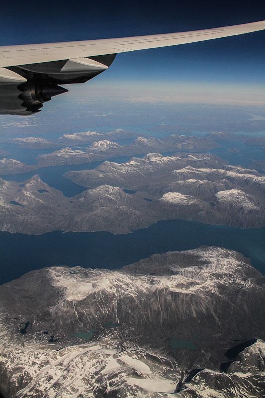 Groenlandia desde el avión