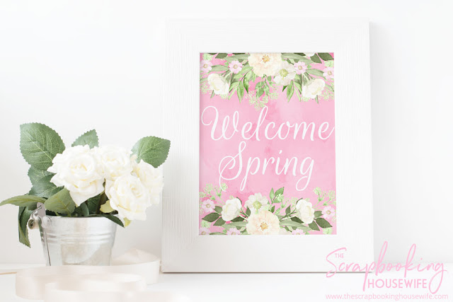 Welcome Spring Free Printable Decor