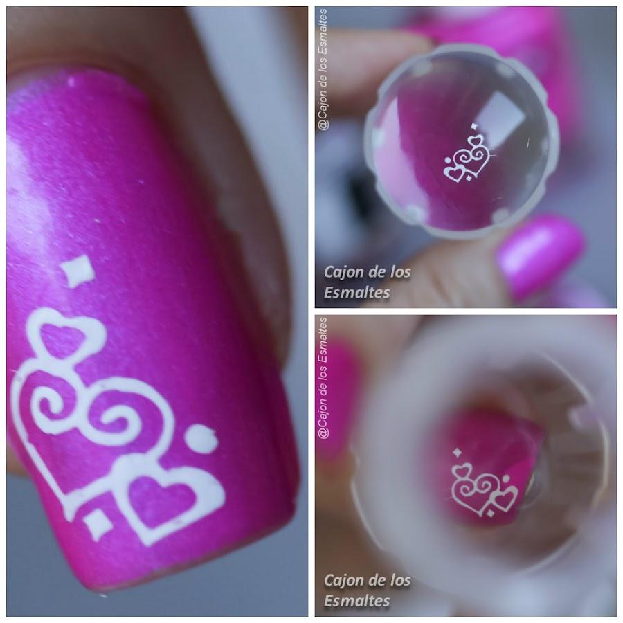 Estampador o sello transparente para uñas