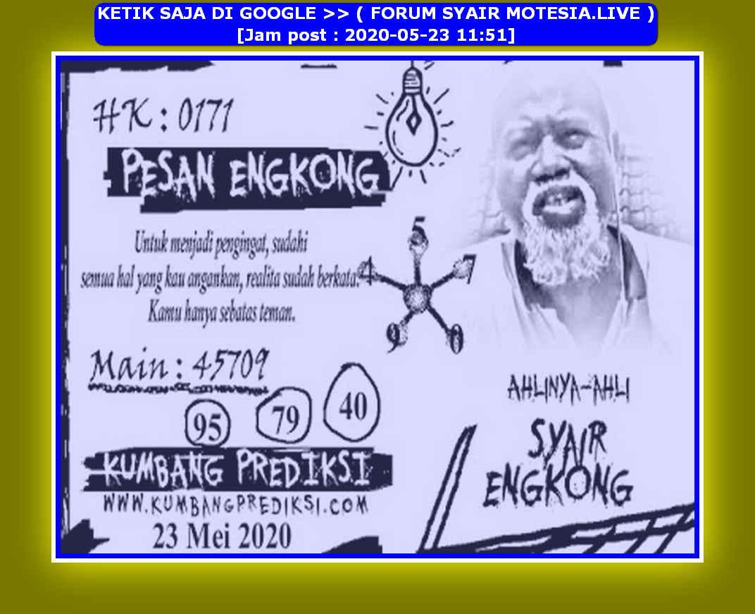Kode syair Hongkong Sabtu 23 Mei 2020 77